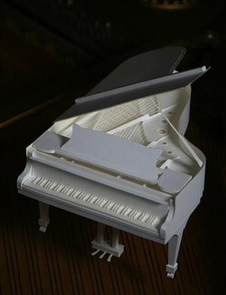 HANDSON Grand Piano Paper Craft Kit (PePaKuRa)