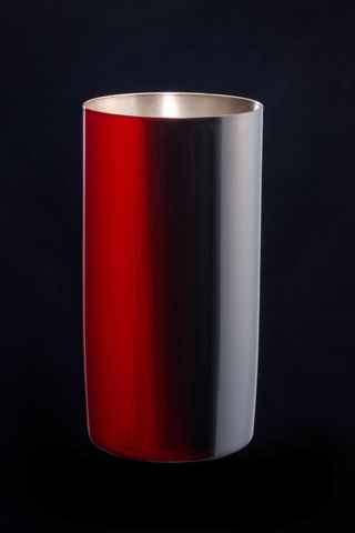 Titanium Japanese Lacquer Tumbler by Rhus  (Firelight)