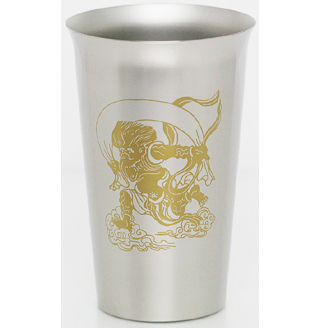 Titanium Beer Cup  (Wind God)