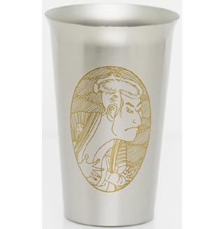 Titanium Beer Cup  (Sharaku & Utamaro)