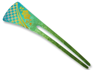 Titanium Hair Stick  (Green)