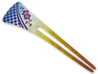 Titanium Hair Stick  (Rainbow)