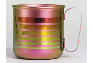 Titanium Mug Cup - Border  (Pink)