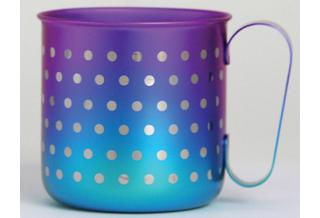 Titanium Mug Cup - Polka Dot  (Violet Blue)