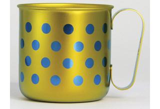 Titanium Mug Cup - Polka Dot  (Yellow)