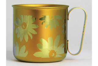 Titanium Mug Cup - Bloom  (Orange)