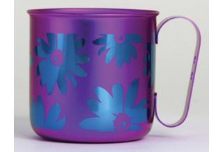 Titanium Mug Cup - Bloom  (Violet)