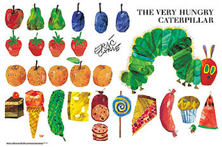 Eric Carle - The Very Hungry Caterpillar (Very Large Piece) 50 Very Large Piece Jigsaw Puzzle