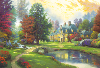 Thomas Kinkade - Lakeside Manor 2000 Small Piece Jigsaw Puzzle