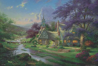 Thomas Kinkade - Guardian Castle 2000 Small Piece Jigsaw Puzzle