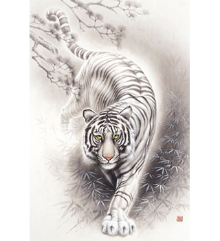 white tiger - japanese design 1000 piece jigsaw puzzle - best buy