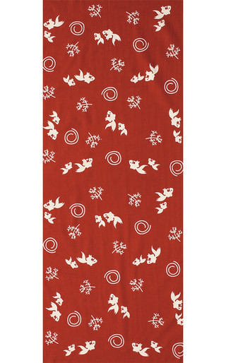 Summer Goldfish - Mini Tenugui (Japanese Multipurpose Hand Towel) - Mother and Child