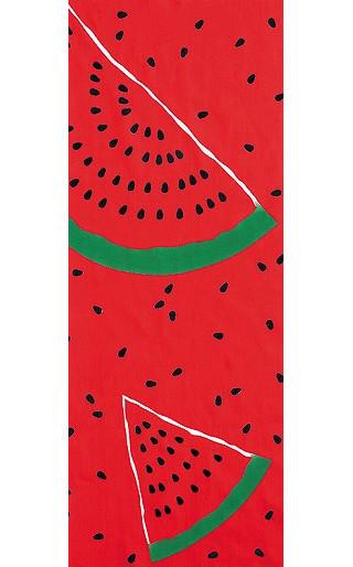Water Melon - Mini Tenugui (Japanese Multipurpose Hand Towel)