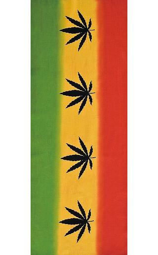 Rastafari - Mini Tenugui (Japanese Multipurpose Hand Towel) - Ganja