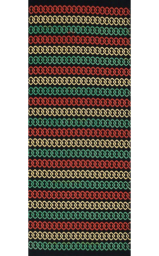 Rastafari - Mini Tenugui (Japanese Multipurpose Hand Towel) - Chains