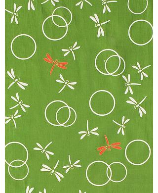 Dragonflies in the Autumn  - Mini Tenugui (Japanese Multipurpose Hand Towel) - Green