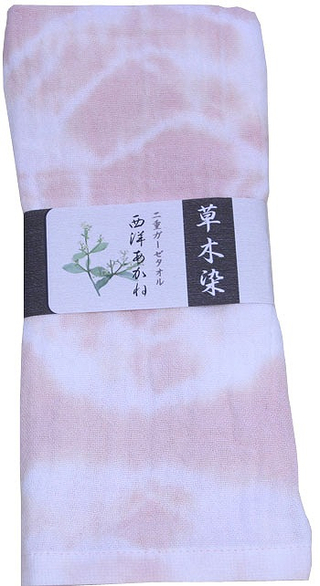 Naturally Dyed Double Gauze Towel  - Hairy Root Peach