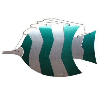 MOBIO Angel Fish Hanging Mobile (Blue/Silver)