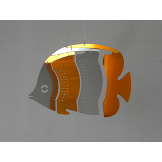 MOBIO Mini Butterfly Fish Hanging Mobile (Orange/Silver)