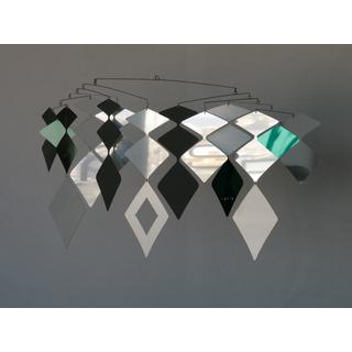 MOBIO Diamond Hanging Mobile (Silver/Blue)