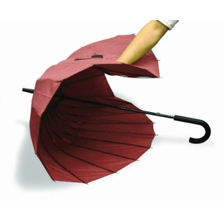 mabu - Ultralight 24 Rib Umbrella EDO (Traditional Japanese Red)