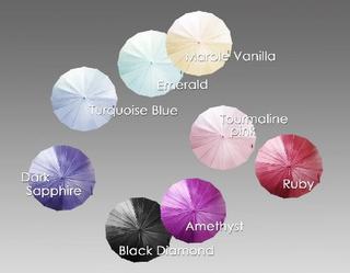 mabu - Ultralight 16 Rib Umbrella Irodori (Ruby)