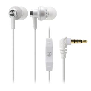 Audio-Technica - ATH-CK400i With mic and remote for iPod/iPhone/iPad (WH)