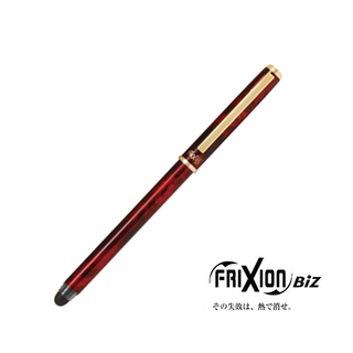 Pilot - FriXion Biz Ball Point Erasable Gel Ink Pen  (Red with Black Ink)
