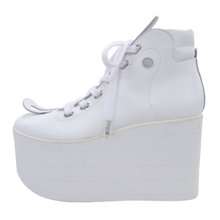 TOKYO BOPPER No.722 / White Smooth Platform Shoes - Best Buy ...