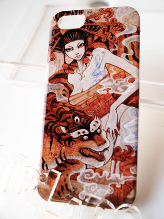 Trilabo original iPhone 5 Artist Collaboration Jacket (Sayuka Bloodstone) -Tiger Girl-