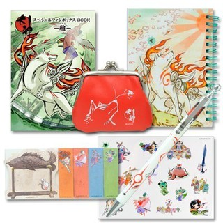 Capcom Okami special fan box BOOK Miyabi Stationery set