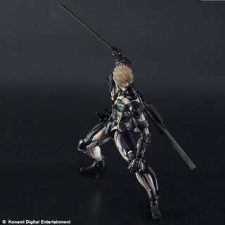Square Enix Play Arts Kai Metal Gear Rising Revengence Raiden Custom Body Yellow Action Figure