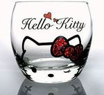 Hello Kitty rocks glass (wink) Candy Red