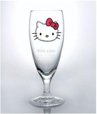japan, Sanrio, Hello Kitty, Pilsner glass, skeleton, design