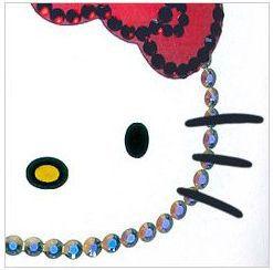 Sanrio Hello Kitty × Crysyal Scene Pilsner Glass (skeleton design)