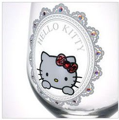 Sanrio Hello Kitty × Crysyal Scene wine glasses (frame)