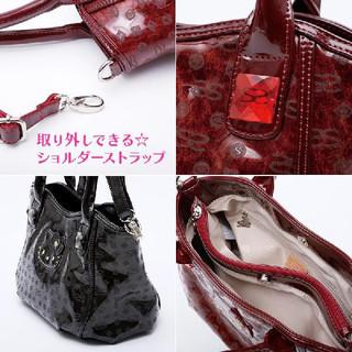 Sanrio Limited SAVOY × Hello Kitty enamel-like Handbag Shoulder bag Wine red