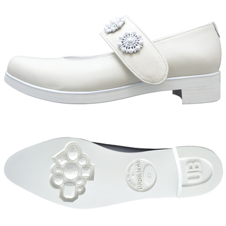 UNBILICAL No.953 / Ivory smooth leather One-strap shoes