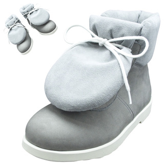 BELLY BUTTON No.281 / Gray pad-toungh shoes
