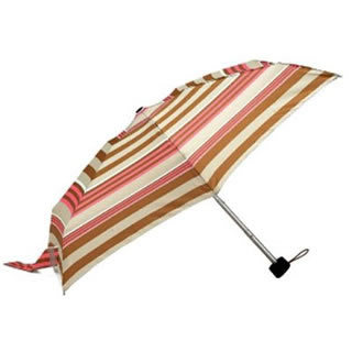 Totes Tiny Folding Umbrella (Pink/Khaki/Beige PK/KH/BG21237)