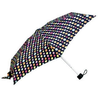 Totes Tiny Folding Umbrella (Multico Dot)