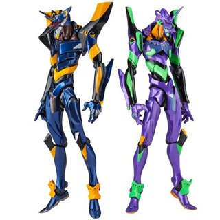 Kaiyodo Revoltech NO.EX Evangelion EVA-01 and Mark.06 Special Edition Action Figure