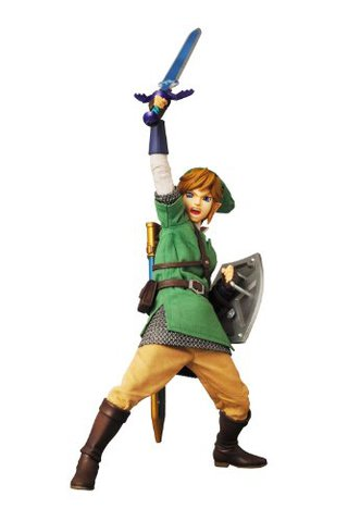 Medicom Toy Real Action Hero The Legend of Zelda Skyward Sword Link Action Figure