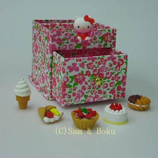 Japanese Erasers Hell Kitty and Sweets,With storage box.