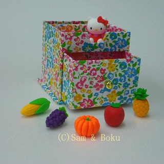 Japanese Erasers Hello Kitty and Vegetables fruits,With storage box.