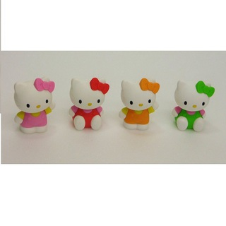 iwako Japanese Erasers, Cute four Hello Kitty. Wall pocket is equipped with.