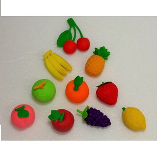 iwako Japanese Erasers, Delicious 10 kinds of fruit. Basket is equipped with.