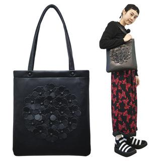 TOKYO BOPPER No.11170/Black flower tote bag