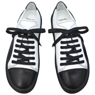 TOKYO BOPPER No.874 /  Black & White smooth leather shoes