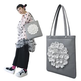 TOKYO BOPPER No.11170/Gray flower tote bag